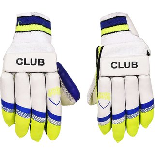 SVR Grip Cricket Batting Gloves for Beginners And Trainers Right Hand batsman made in Premium Leather