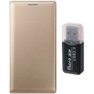 Samsung J7 Prime ( SM G610F ) Stylish Cover with Memory Card Reader