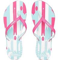 Adidas Women's Pink  White Flip Flops