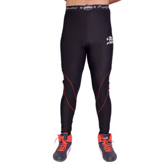 Shredded Prophysique Solid Mens Black Gym Tights