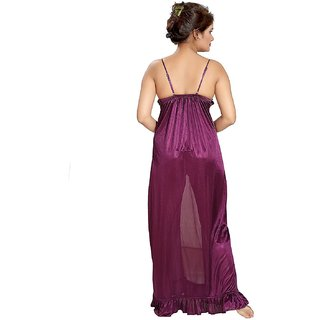 abf69128a8 Buy Be You Purple Satin Net Women's Nighty Online - Get 28% Off