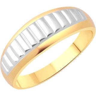 Vighnaharta Designer Plain Gold and Rhodium Plated Alloy Gents Ring for Men & Boys