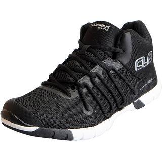 Columbus Mens FLIPPO Black Sports Lifestyle Gym Running Shoes