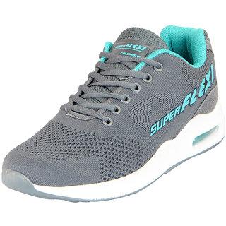 Columbus Mens FLYKNIT Super Flexi Dark Grey Sports Running Shoes