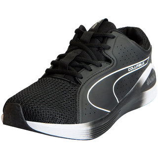 Columbus Mens H2 Black Sports Lifestyle Gym Running Shoes