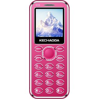 Kechaoda K115 (Dual Sim, 1.44 Inch Display, 800 Mah Battery, Pink)