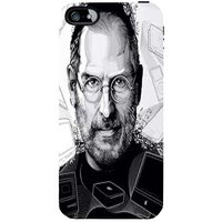 Snoogg  Jobs Black And White Case Cover For Apple Iphone 5C