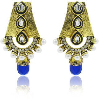 Purplestones Comfy Crystal Alloy Drop Earring