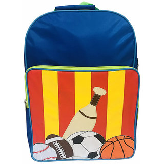 Lill Pumpkins Blue Baseball School Backpack bag