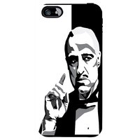 Snoogg Godfather Black And White Case Cover For Apple Iphone 5C