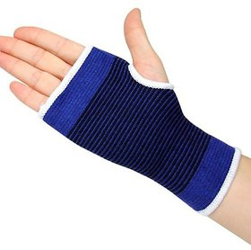 Atyourdoor Elastic Wrist Glove Hand Support Protector Brace Sleeve Support (Free Size, Blue)