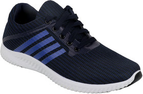 Verdade Men's Lace-Up Sports Shoes (Blue)