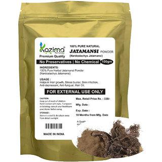 KAZIMA Premium Quality Jatamansi Powder (100g) - 100% Pure Natural Herbal & Fresh - Hair growth Skin infection Anti-depressant Anti-fungual