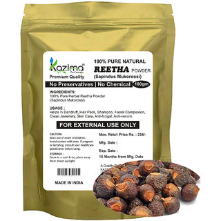 KAZIMA Premium Quality Reetha Powder (100g) - 100% Pure Natural Herbal & Fresh - Facial Complexion Clean Jewellery Skin Care Anti-fungal