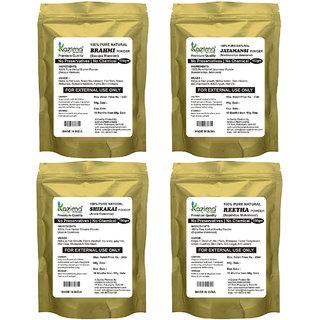 KAZIMA Combo Premium Quality ( Amla + Jatamansi + Shikakai + Brahmi Pack of 4-in-1) 100% Pure Natural & Herbal POWDER 400g