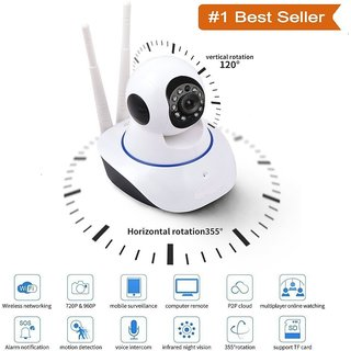 Shutterbugs Dual antenna WiFi  p2p MINI Wireless IP CCTV Surveillance  720P Night Vision