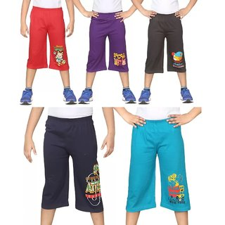 GMR Boys 3/4 th pant capri combo pack of 5 ( 3 - 6 years combo )