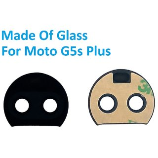 new style be9b9 c47f4 Rear Back Camera Glass Lens With Adhesive Sticker For Motorola Moto G5s Plus