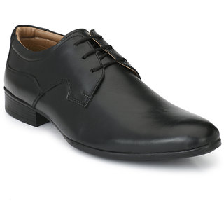 Black Men Genuine Leather Lace-up Shoe