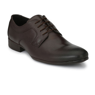 Brown Formal Office Genuine Leather Lace-up Shoe