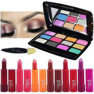 Color Diva 6Pcs Lipstick With Eyeshadow Pack of 7, GC554