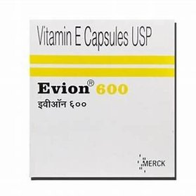 EVION 600 Evion Vitamin E Pack Of 50 Capsules 600mg.. F