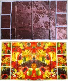 Floral Fridge cover Combo with Designer Fridge cover
