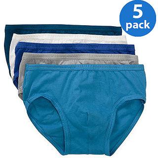 KSR Men Cotton Brief - Pack of 5 (Assorted color)