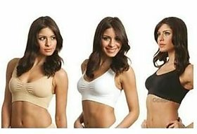 sparkle Air Bra for Girls and Women Combo of 3 Black, Beige, White (Free Size)