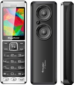 MU PHONE M390  DUAL SIM WITH SELFIE CAMERA , 2.8 INCH DISPLAY WITH VIBRATION, 3600mAh BATTERY, AUTO CALL RECORDING