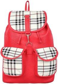 Varsha Fashion Accessories Women backpack bag 121 RED