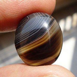 Jaipur Gemstone 9.50 ratti Sulemani Akik Stone Original Certified Best Quality Black Hakik Gemstone