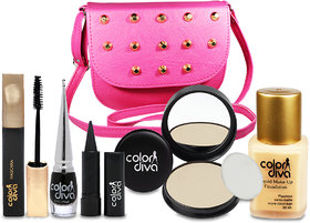 Special For Beautiful Girls Makeup Combo Set With Stylish Sling Hand Bag Pack of 6, GC547