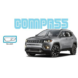 Tail Lamp Chrome Cover For Jeep Compass Set Of 4 Pcs.
