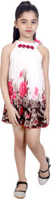 KBKIDSWEAR Girl's Net Summer Wear Stylish Sleeveless Frock