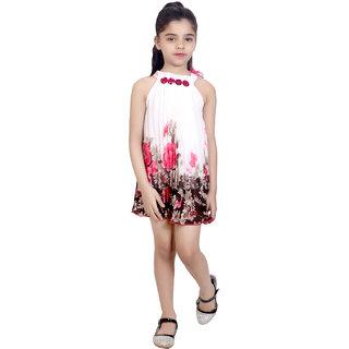 beabf65b4c61 Buy KBKIDSWEAR Girl s Net Summer Wear Stylish Sleeveless Frock Online - Get  71% Off