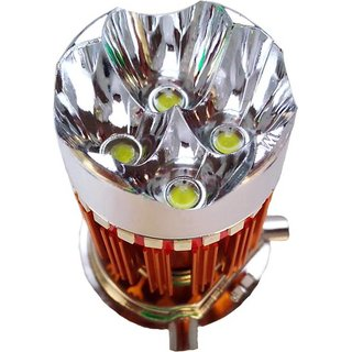 H4 LED headlight with 4 flasher modes for Hero bikes/scooty by Poshauto