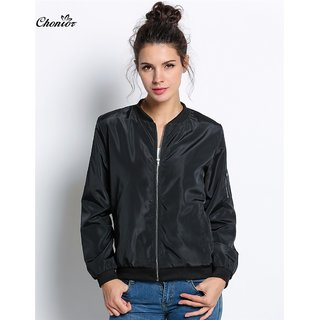 Women Black Light Winter Jacket (NOT FOR HEAVY WINTER)