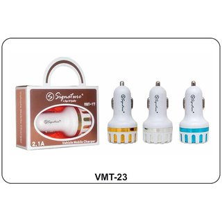 Signature 2.1 Amp VMT-23 USB Car Charger (Assorted Colors)