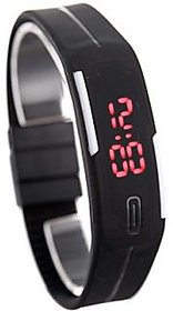 Fancy Look Led Watch With Adjustable Black Strap