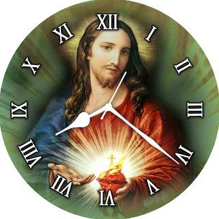 3d gray jesus wall clock
