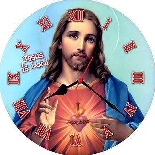 3d jesus with heart wall clock