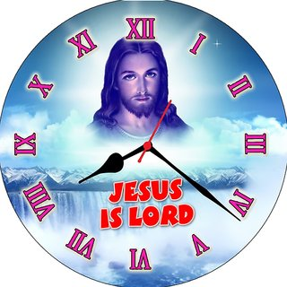 3d jesus with cloud1 wall clock
