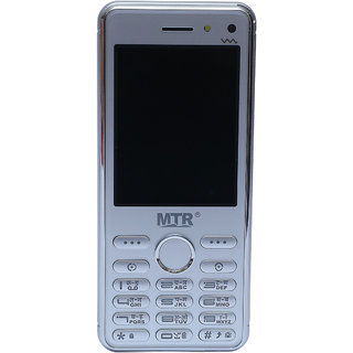 MTR MT CHAMP DUAL SIM, 2.8 INCH DISPLAY, 2000 MAH, IN WHITE AND SILVER COLOR