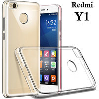 Redmi Y1       Soft Silicon High Quality Ultra-thin Transparent Back Cover (TPU).