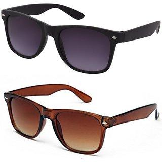 Meia Combo Wyfrblkbrn Of Black And Brown Wayfarer Sunglasses