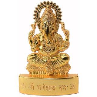 Reptum Decor Lord Ganesh Idol For Car Dashboard Home Decor Office Gifting Showpiece