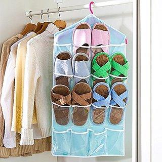 BANQLYN Multifunction Clear 16 Pockets Socks Shoe Toy Underwear Slippers  Jewelry Sorting Storage Bag Door Wall