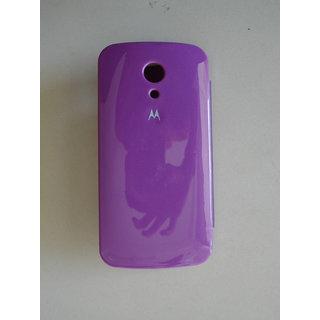 reputable site 1ac15 195e9 Moto G2 g 2 2nd Gen Mobile Flip Flap Cover Back Case Cover Pouch-purple