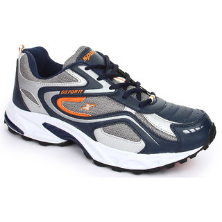 Sparx Navy Blue And Orange Men Sports Shoes - Sm 171